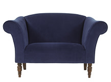 Garston Love Seat, Regal Blue