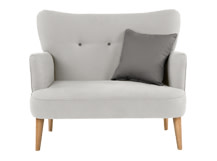 Gigi Love Seat with Scatters, Soft Dove Grey