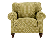 Hawkins Armchair, Patterned Olive Green