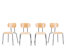 4 x Haywood Dining Chairs, Ash and Grey