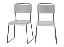 2 x Hill Dining Chairs, Grey