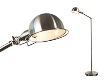 Jenkins Floor Lamp, Satin Nickel