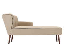 Jersey Right Hand Facing Chaise, Biscuit Beige