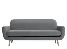 Jonah 3 Seater Sofa, Pebble Velvet