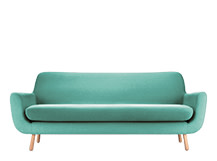 Jonah 3 Seater Sofa, Med Blue