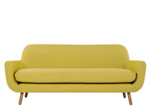 Jonah 3 Seater Sofa, Saffron Yellow