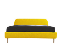 Jonah Double Bed, Dandelion Yellow