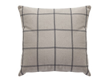 Juno Large Square Scatter Cushion 50 x 50cm, Grey Check