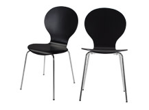 2 x Kitsch Dining Chairs, Black