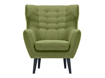 Kubrick Wing Back Chair, Lime Green