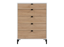 Latymer Chest of Drawers, Oak Effect and White Gloss