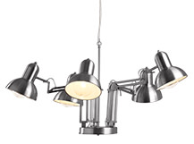Lennon Chandelier, Brushed Stainless Steel