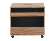 Leslie Bedside Table, Walnut and Black
