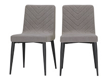 2 x Lex Dining Chairs, Graphite Grey