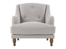 Ariana Armchair, Chic Light Grey