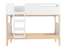 Linus Bunk Bed, Pine and White