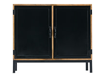 Lomond Compact Sideboard, Mango Wood and Black