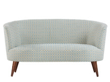 Lulu 2 Seater Sofa, Honeycomb Weave Cotton mix