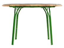 Lyra Outdoor 6 Seater Dining Table, Green