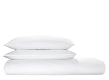 Mabelle 100% Egyptian Cotton Seersucker Bedset, White