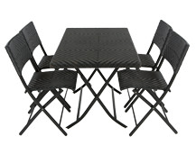 Mali Large Rectangle Table Set, Black