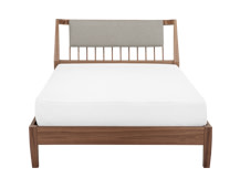 Mara Double Bed, Walnut
