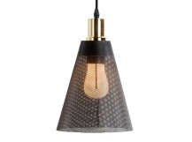 Memoir Pendant Lamp and Plumen 002 Bulb, Matt Black and Polished Brass