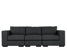 Mortimer 4 Seater Modular Sofa, Shadow Grey