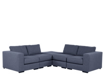 Mortimer Modular Corner Sofa Group, Shadow Indigo