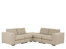 Mortimer Modular Corner Sofa Group, Shadow Stone