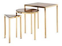 Nova Nesting Side Tables, Brass