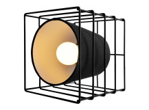Ozzy Cube Table Lamp, Black