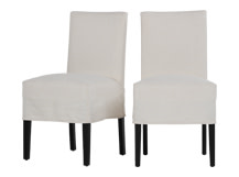 2 x Parson Dining Chair, Powder White