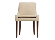 Percy Scoop Back Chair, Biscuit Beige