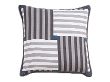 Reeds Printed Cushions 50 x 50cm, Hampton Grey