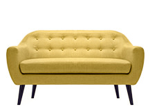 Ritchie 2 Seater Sofa, Ochre Yellow