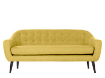 Ritchie 3 Seater Sofa, Ochre Yellow