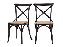 2 x Rochelle Dining Chairs, Black