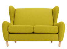 Rubens 2 Seater Sofa, Kelp Green Wool Mix