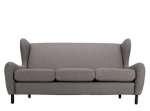 Rubens 3 Seater Sofa, Nickel Grey Wool Mix