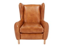 Rubens Wing Back Armchair, Toffee Brown