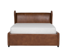 Rubens Double Bed with Storage, Toffee Brown