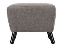 Rubens Footstool, Nickel Grey Wool Mix