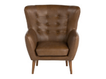 Rydon Armchair, Tan Premium Leather