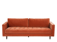 Scott 3 Seater Sofa, Burnt Orange Cotton Velvet