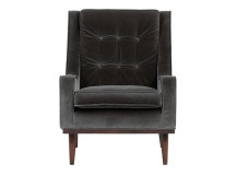 Scott Armchair, Concrete Cotton Velvet