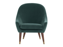 Seattle Armchair, Petrol Cotton Velvet