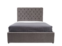 Skye Double Bed With Storage, Pewter