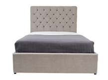 Skye Double Bed With Storage, Owl Grey