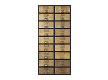 Stow Tall Storage Unit, Vintage Brass